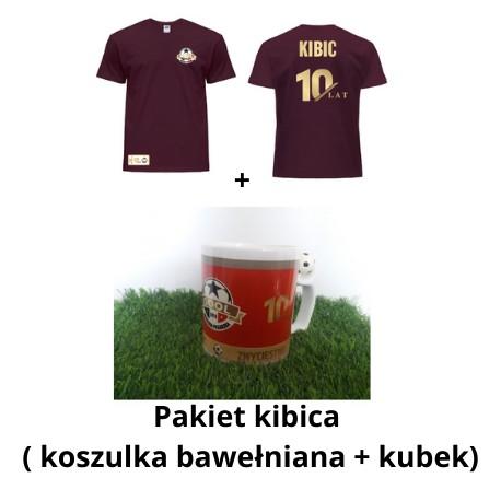 Pakiet kibica 10-lecie: Koszulka Kibica (dla dzieci) + kubek