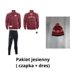 Pakiet jesienny( czapka zimowa + dres z okazji 10 - lecia )