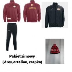 Pakiet zimowy ( dres, ortalion, czapka)