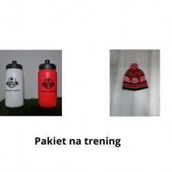Pakiet na trening ( bidon, czapka)